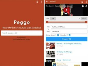 Save MP3 and MP4 on SD card with Peggo App