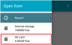 Save Media on SD Card with Peggo App